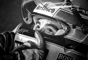 Ayrton Senna by Sweenart
