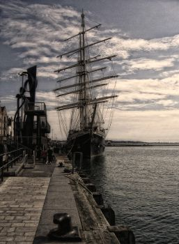 tall ship at Poole by awjay
