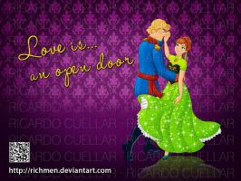 Anna and Kristoff Dancing by Richmen
