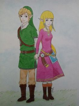 Link and Zelda by JustMyselff