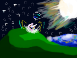 Moon girl--Thrown out of the moon by Blackheartedlady222