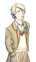 Pensive Fifth Doctor by infiniteviking