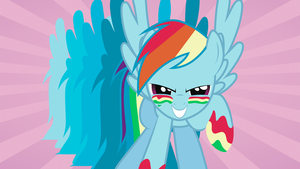 Rainbow Dash Vector Wallpaper by FlowerJewel