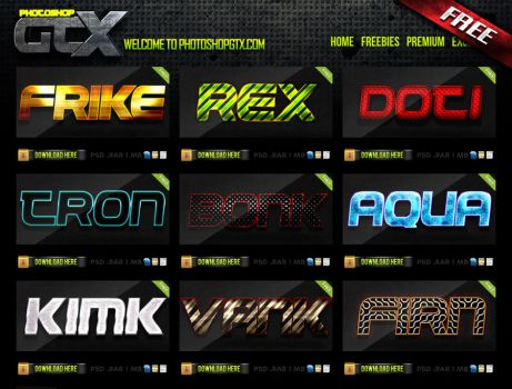 Photoshop Gtx My New Free Site To Share Styles by Industrykidz