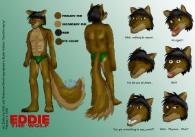 Eddie the Wolf Reference Sheet by SonicHomeboy