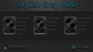 Stylish Gray HDD by WwGallery