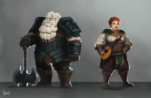 Dwarves by Artsed