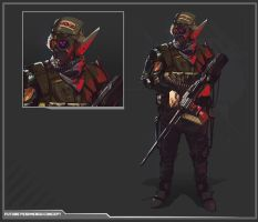 Peshmerga Future Soldier by DanarArt