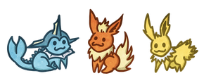 Eeveelutions! by Darkashter