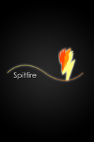 Spitfire Glow Line iPod/iPhone Wallpaper by AlphaMuppet