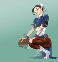 Chun-li trinquette by Spacesam