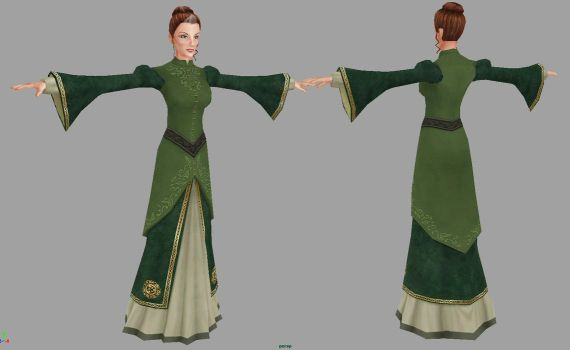 Queen Valanice (TSL) 3D Textured Model by Shadolyst