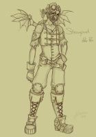 Steampunk Peter Pan Sketch by NoFlutter