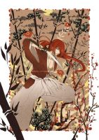 Red hair Samurai by Eternal-S