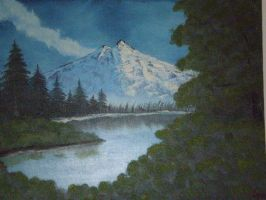 BOB ROSS style painting 2001 by phymns