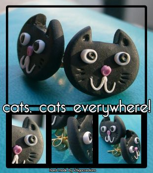 cats, cats everywhere by ichigocreations