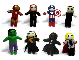 ALL the Avengers Plushies by Ginger-Storm
