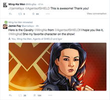 Agent May tweeted my art!!! by JamieFayX