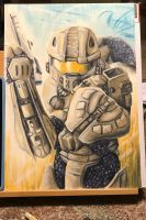 Halo Master Chief by KyoukiW