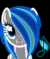 Request DJgirl939 Neon pony by ZantyARZ