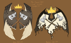 New And Old Crown Crest Comparison by Hauket