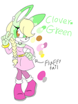 Sonic oc: Clover Green by Smileverse