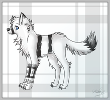 Art Trade- Aki-the-wolf by Mekynopsis
