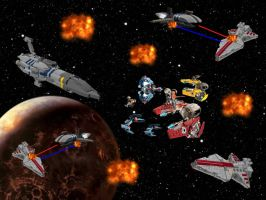 Battle of Coruscant by MiguelofKing