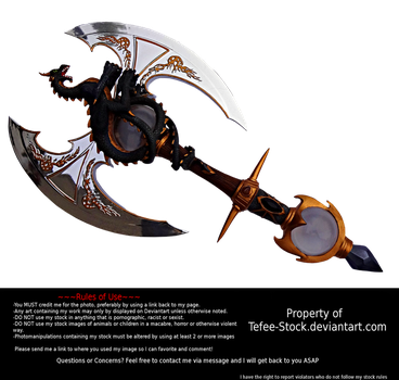 Black Dragon Battle Axe Stock by Tefee-Stock