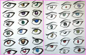 Male and female manga eyes 2 by Randazzle100