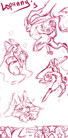 Lopunny art dump by StereoJester