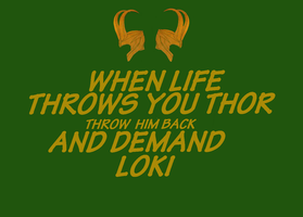 Loki t-shirt design for my sis by Maygirl96