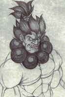 akuma sketch by DominicanFlavor