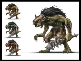 Dungeon Troll by mohzart