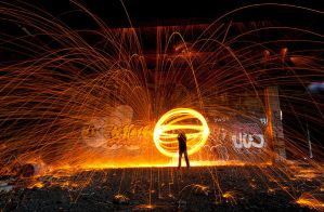 Wire wool orb 1 by AngiWallace