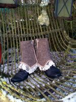 Steampunk Spats 'Granny's Garden' II by Costumy