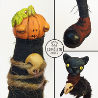 Details of the halloween pumpkin family by Ermellin