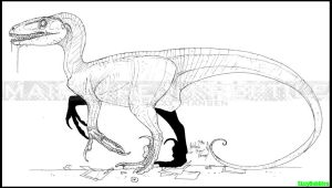 Dino Crisis Raptor lineart by SizzyBubbles