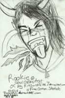 Free Quick Sketch of Kitsunefire7's OC Rookie by Tranzopus