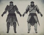 Knight's lamellar armor concept 1 by Gottsnake