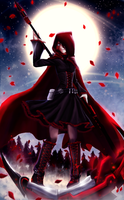 Ruby Rose - RWBY by zaameen