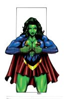 SHE-HULK GIRL OF STEEL by Dwid