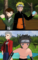 Ben 10 Naruto and evil doubles mmd by ultimate44