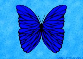 Soft Blue Butterfly by ShadowAether