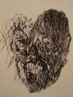 DEADFACED ZOMBIE by KISSFANFREHLEYSCOMET