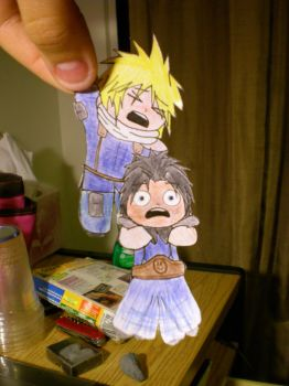 Cloud and Zack Paperdolls by NaruHinaFan