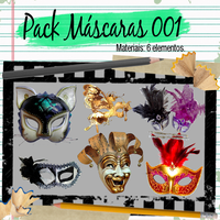 Pack de Mascaras 001 by leticiamaria