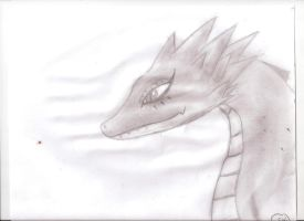 Traditional: Evily the Dragon by SHADOW-HEART130