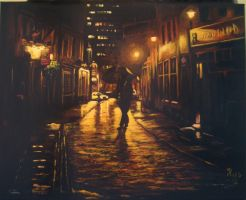 City Street my painting by cliford417