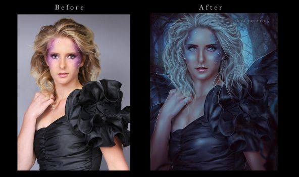 Black Fairy Before After  by ektapinki